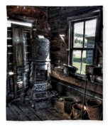 Old Ghost Town Stove - Molson Washington Fleece Blanket