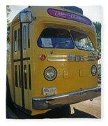 Old Gm Bus Fleece Blanket