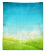 Old Grunge Paper Fleece Blanket