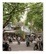 Old Hanoi Life Fleece Blanket