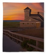 Old Harbor U.s. Life Saving Station Fleece Blanket
