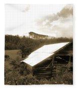 Old Hay Barn Fleece Blanket
