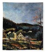 Old Houses In Mogimont Fleece Blanket