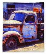 Old Junk Truck Fleece Blanket