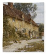Old Kentish Cottage Fleece Blanket