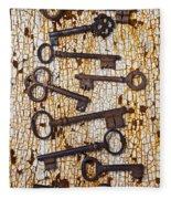 Old Keys Fleece Blanket