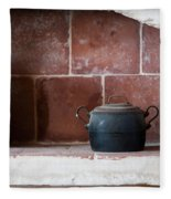 old kitchen - A part of a traditional kitchen with a vintage metal pot  Fleece Blanket