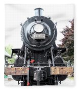 Old Locomotive Fleece Blanket