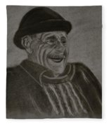 Old Man Laughing Fleece Blanket