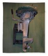 Old Mercury Boat Engine Fleece Blanket