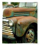 Old Mercury Truck Fleece Blanket