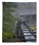 Old Mill In The Smokey Mountains Fleece Blanket