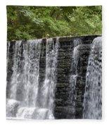 Old Mill Waterfall Fleece Blanket