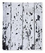 Old Painted Wood Abstract Fleece Blanket