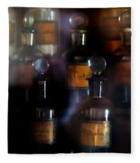 old pharmacy 1 - Old glass bottle with medicine powder of xviii century Fleece Blanket