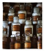 old pharmacy 2 - Old glass bottle with medicine powder of xviii century Fleece Blanket