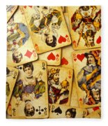 Old Playing Cards Fleece Blanket