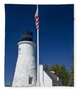 Old Presque Isle Light Station Fleece Blanket