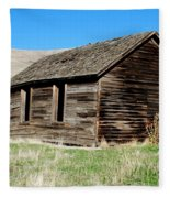 Old Ranch Hand Cabin Fleece Blanket