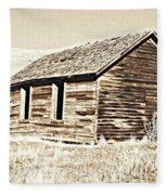 Old Ranch Hand Cabin L Fleece Blanket