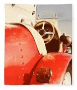 old Red Race Car Fleece Blanket