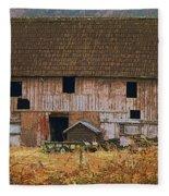 Old Rosedale Barn Fleece Blanket