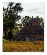 Old Round Barn Fleece Blanket