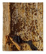Old Rusty Door Fleece Blanket