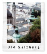 Old Salzburg Poster Fleece Blanket