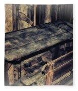 Old School Desk Fleece Blanket