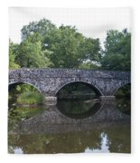Old Sumneytown Pike Bridge Over The Perkiomen Creek Fleece Blanket