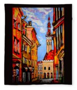 Old Tallinn Fleece Blanket