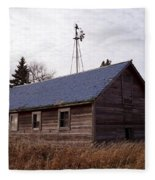 Old Time Barn From Days Gone By Fleece Blanket