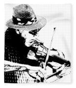 Old Time Fiddle Player No.560 Fleece Blanket