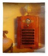 Old Time Radio Fleece Blanket