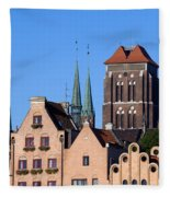 Old Town In Gdansk Fleece Blanket