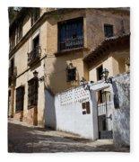 Old Town In Ronda Fleece Blanket