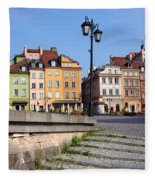 Old Town In Warsaw Fleece Blanket