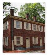 Old Town Philadelphia Brownstone House Fleece Blanket