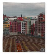 Old Town Vancouver Fleece Blanket