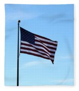 Old Usa Flag Fleece Blanket