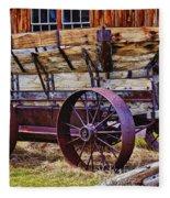 Old Wagon Bodie Ghost Town Fleece Blanket
