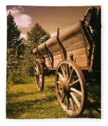 Old Wagon Fleece Blanket
