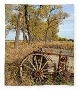 Old Wagon Fleece Blanket