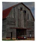 Old Wagon Older Barn Fleece Blanket