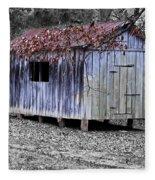 Old Weathered Shed Fleece Blanket