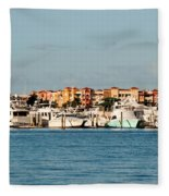 Olde Naples Seaport Fleece Blanket
