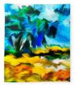 Olive Trees In The Manner Of Van Gogh Fleece Blanket