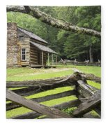 Oliver Cabin In Cade's Cove Fleece Blanket