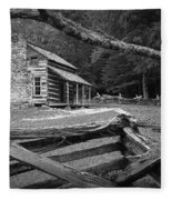 Oliver's Cabin In The Great Smokey Mountains Fleece Blanket
